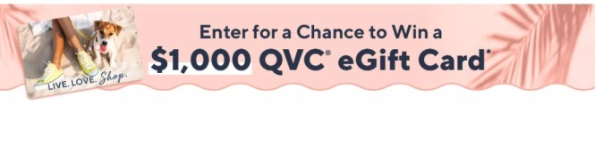 QVC $1000 Free Gift Card Giveaway