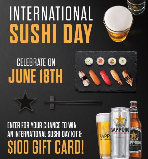 Sapporo International Sushi Day Sweepstakes