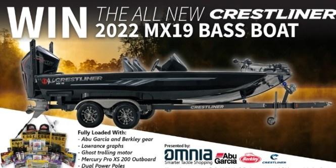 Omnia Fishing Crestliner MX19 Bass Boat Giveaway