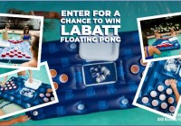 Labatt Beer Pong Float Sweepstakes