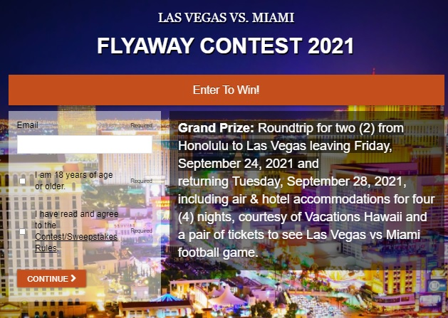Las Vegas Vs. Miami Flyaway Contest