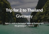 Live Sozy Trip To Thailand Giveaway