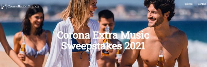 Crown Imports Corona Extra Music Sweepstakes.