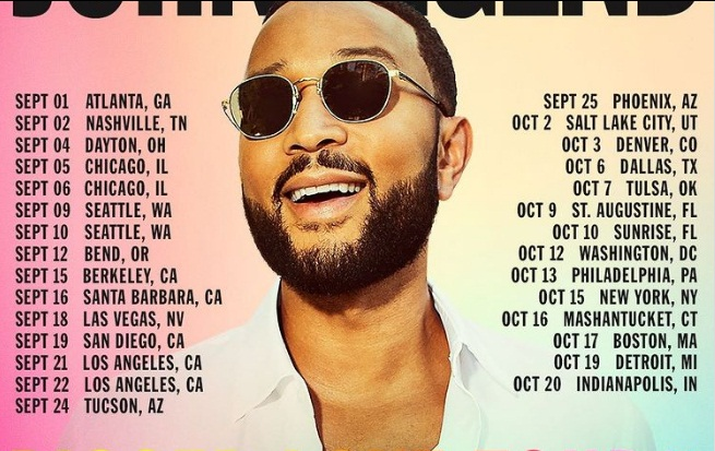 John Legend Sweepstakes - Chance To Win Two Tickets.