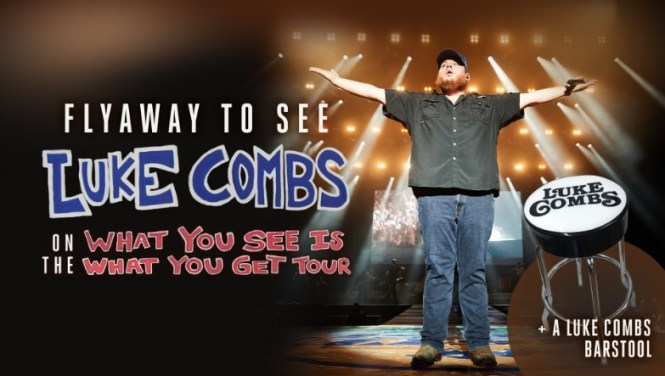 Luke Combs Flyaway And Bar Stool Giveaway