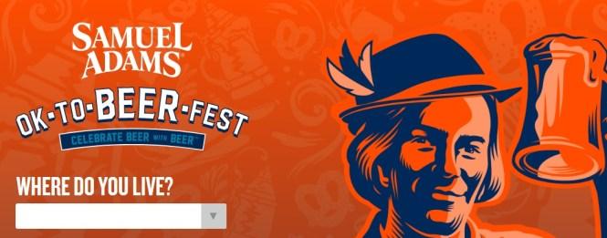 Samuel Adams Octoberfest Golden Tickets Sweepstakes