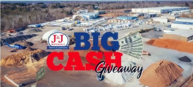 J And J Materials Big Cash Giveaway