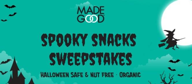 $5,000 MadeGood Spooky Snacks Halloween Sweepstakes