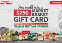 Market Basket Italian Festival Sweepstakes