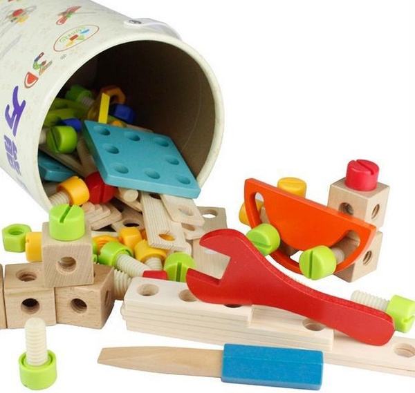 Wooden Nuts And Bolts Wooden Construction Toys