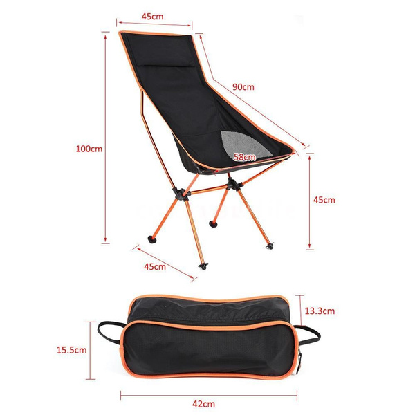 lightweight folding chairs hiking sure fit chair cover wish tomshoo ultra portable outdoor camping fishing lounger desks