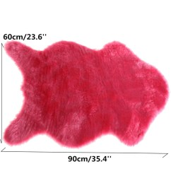 Animal Skin Chair Covers Tables And Chairs For Sale Wish New Fashion Soft Faux Fur Sheepskin Cover Warm Hairy Carpet Seat Pad Plain Fluffy Area Rugs Washable Bedroom Mat Home