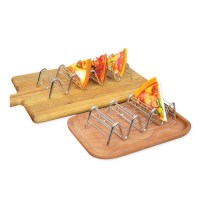 NEW Stainless Steel Taco Holder Stand Mexican Food Rack ...