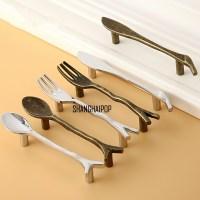 Vintage Door Handles Home Cabinets Pulls Knife Fork Spoon ...