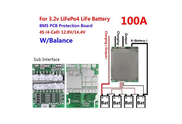 4s bms wiring diagram vw beetle transmission wish 1pc 14 8v 30a pcb protection board 18650 lithium battery cell balance