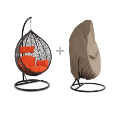 Swing Chair Local Bambino Baby Wish Dubai Luxury Heavy Duty Outdoor Rattan Hanging Egg Wicker Patio Pod Shape Free Cover Pick Up 6 Color