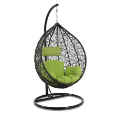 Hanging Chair With Stand Dubai Ideas For Painting Adirondack Chairs Wish Luxury Porch Pod Wicker Swing Egg Outdoor Hammocks W Patio Furniture Brown 6 Color Option Free