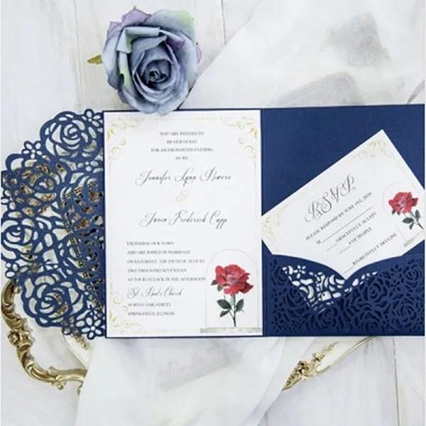 Tri Folding Wedding Invitation Card