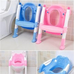 Potty Chair Large Child Fabric Office Chairs Uk Wish 1 Pc Baby Seat With Ladder Children Toilet Cover Kids Folding Infant Training Portable