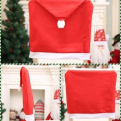 Santa Chair Covers Sets King Kokoda Review Wish Hat Set Of 5 Clause Red Back Kitchen Decor Dining Slipcovers Decoration