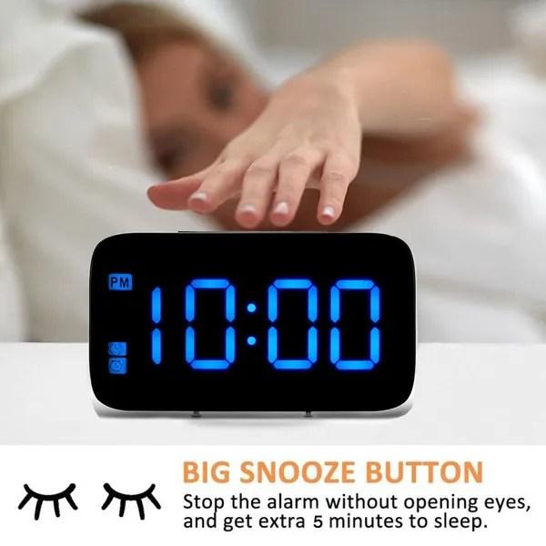 Led Alarm Clock Screen Snooze