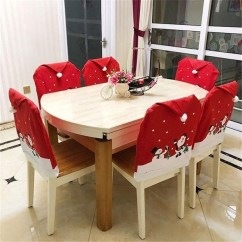 Chair Covers New Year Motorhome Geek 4 6 8pcs Santa Claus Snowman Cap Christmas Dinner Party Decoration Of Corners