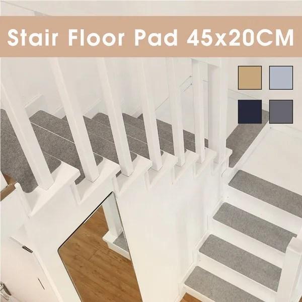 7 14Pcs Diy Self Adhesive Anti Slip Stair Mat Step Carpet Floor   No Slip Strips For Carpeted Stairs   Hardwood   Traction   Brown Cinnamon   Tread Nosing   Flooring