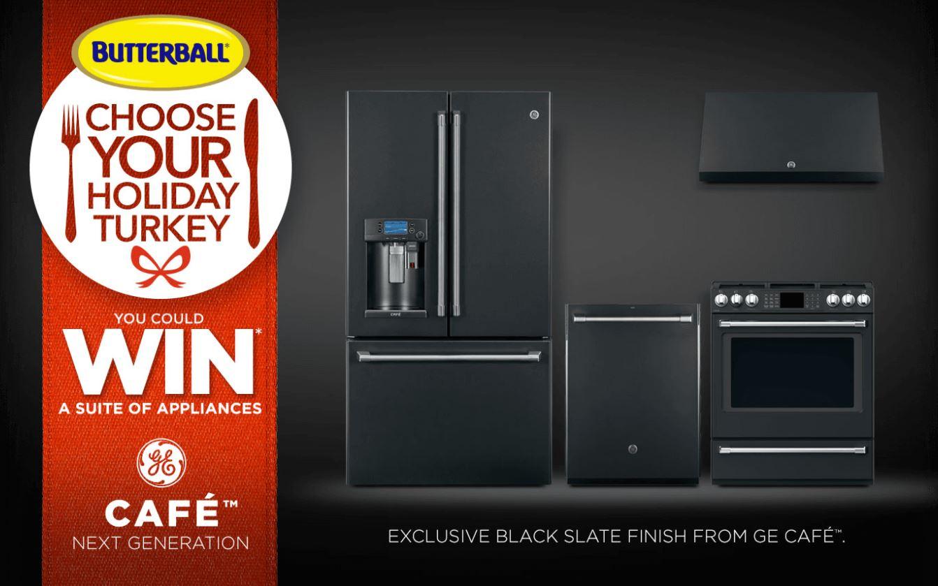 ge cafe black slate appliances