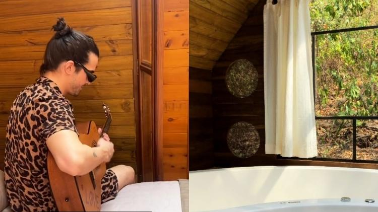 Fiuk enjoys a luxury cabin in the interior of São Paulo with Thaisa Carvalho - Reproduction/Instagram - Reproduction/Instagram