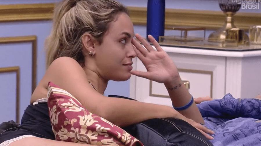 BBB 21: Sarah conversa com Caio e Rodolffo no quarto do líder - Reprodução/Globoplay
