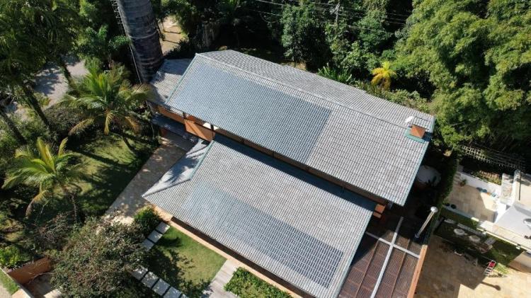 Primeiras telhas fotovoltaicas de concreto do Brasil foram usadas em projetos-piloto em São Paulo - Divulgação