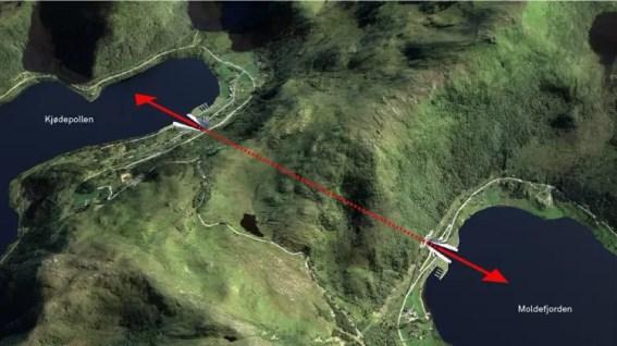 Mapa do túnel de navios em Stad, Noruega - Reprodução/snohetta.com/ - Reprodução/snohetta.com/