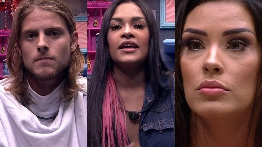 Daniel, Flay e Ivy estão no paredão - Reprodução/TV Globo