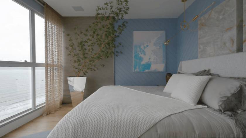 Double room with sea view - Reproduction/Youtube/Casa Vogue Brasil