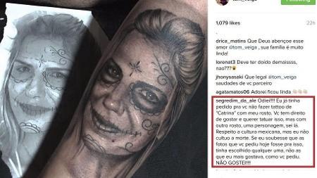 Tom Veiga fez uma tatuagem em homenagem a então mulher, Ale Veiga; mas ela detestou - Reprodução/Instagram