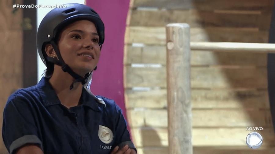 A Fazenda 2020: Jakelyne Oliveira na prova do fazendeiro - Reprodução/Playplus