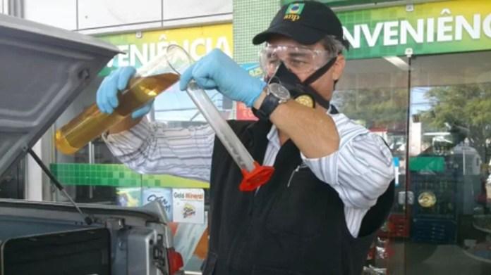 Teste Combustível fiscal ANP - ANP/Divulgação - ANP/Divulgação