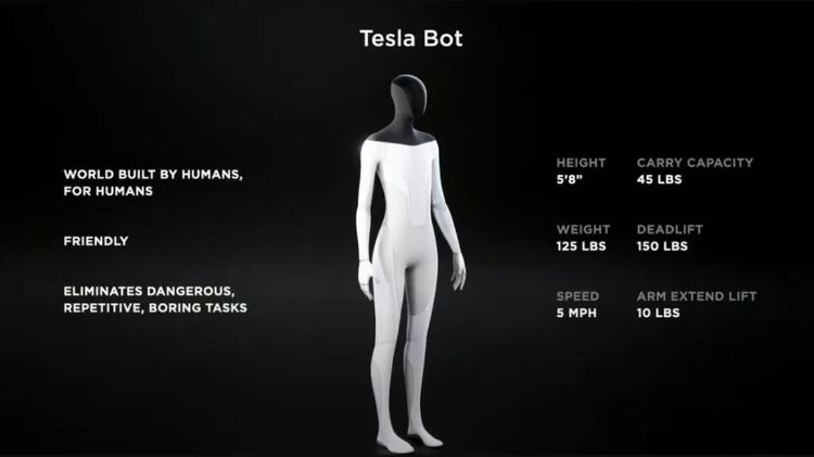 Tesla Bot, the humanoid robot created by Elon Musk's company - Press Release - Press Release