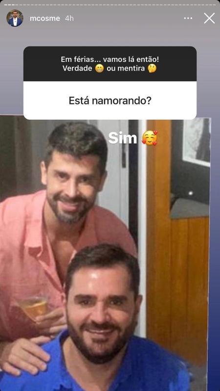 Marcelo Cosme stories - Reprodução / Instagram - Reprodução / Instagram