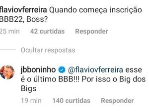 BBB 21: Boninho diz que edição de 2021 será a última - Reprodução/Globoplay - Reprodução/Globoplay