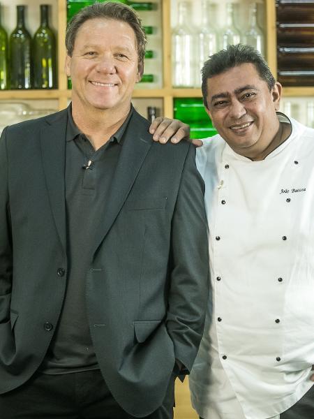 Claude Troisgros e Batista em Mestre do Sabor  - Victor Pollak TV Globo