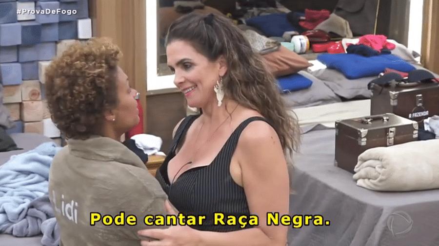 A Fazenda 2020: Lidi Lisboa e Luiza Ambiel se acertaram após polêmica sobre Raça Negra - Reprodução/Playplus