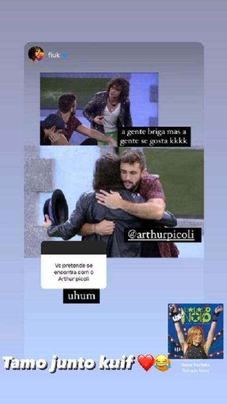 Fiuk and Arthur exchange messages on social networks - Reproduction/Instagram - Reproduction/Instagram