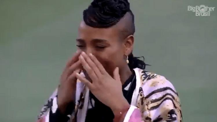 BBB 21: Karol Conká imitou Carla Diaz chorando - Reprodução/Globoplay - Reprodução/Globoplay