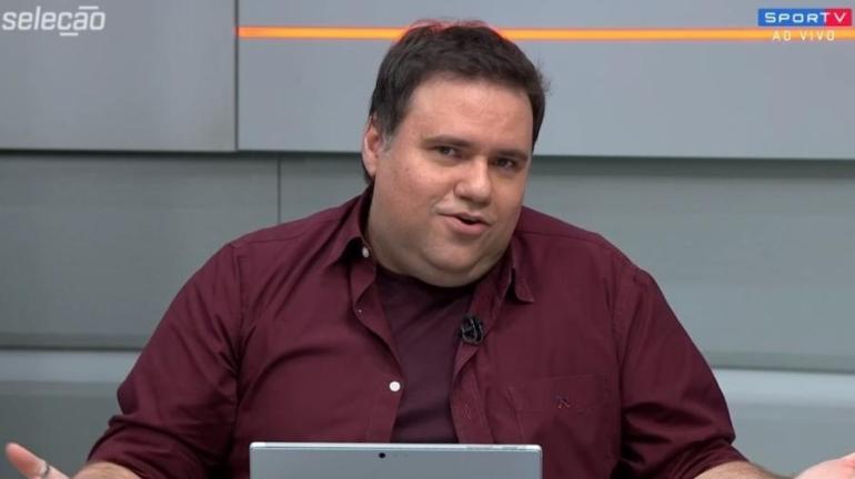 """Rodrigo Rodrigues, apresentador do SporTV, apresentava eventualmente o """"Globo Esporte"""", na Globo - Reprodução/SporTV"""