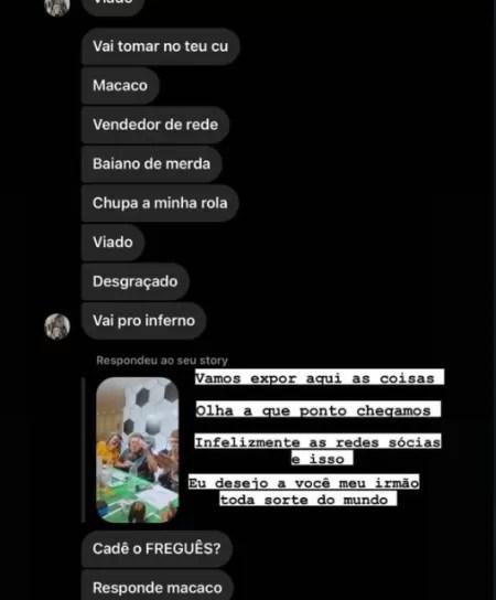 Souza é vítima de racismo e xenofobia no Instagram - Reprodução/Instagram - Reprodução/Instagram