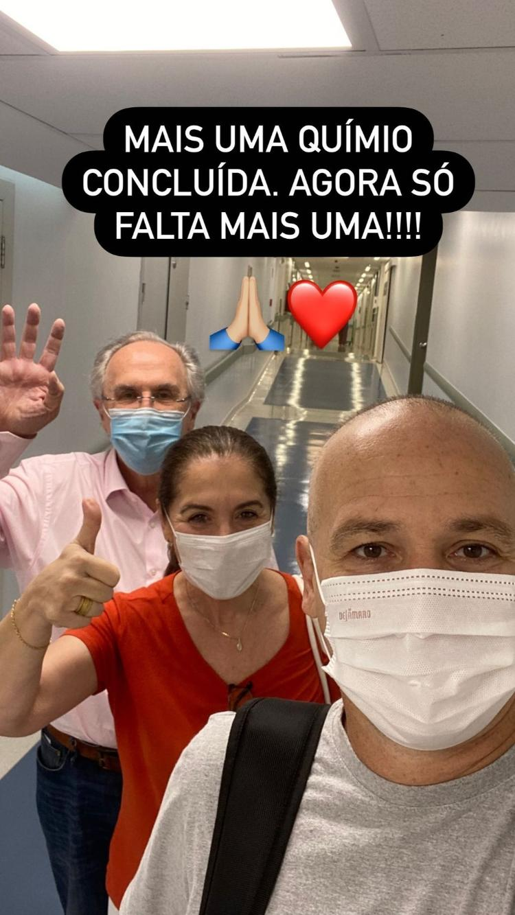 Caio Ribeiro celebrates chemotherapy: 'One more is missing' - Instagram - Instagram