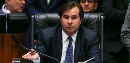 22.mar.2017 - Presidente da Câmara, Rodrigo Maia (DEM-RJ), no plenário