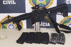 Fuzil foi recuperado na rua Araújo Leitão, no Engenho Novo, na zona norte carioca