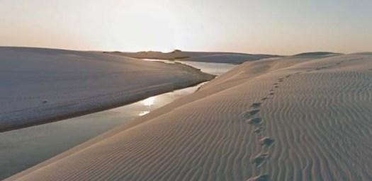 Lençóis Maranhenses (MA) é um dos 7 parques naturais disponíveis no Street View